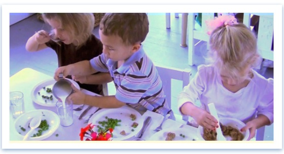 Family Style Dining with Children